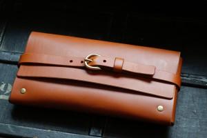 clutch rahel chestnut cognac leder