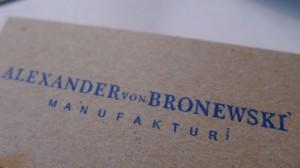 Logos Alexander von Bronewski Manufaktur 592