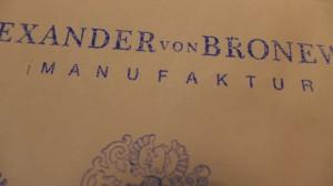 Logos Alexander von Bronewski Manufaktur 593