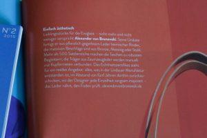 Experience Magazine American Express Deutschland Alexander von Bronewski Manufaktur 6182
