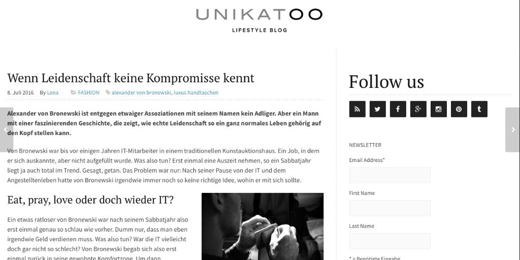 Unikatoo Lifestyle Blog Alexander von Bronewski Leidenschaft 6355