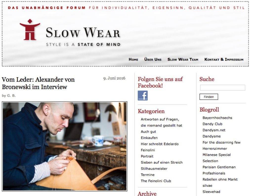 slow wear magazin interview alexander von bronewski 6187