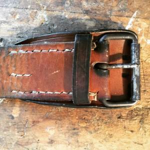 Jugoslawischer Militärgürtel Leder vintage
