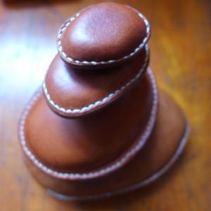 Ledersteine Handschmeichler beledert Türstopper Paperweight