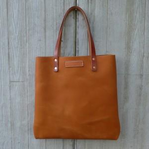 Leder Tote Shopper Iris Handtasche Hellbraun Cognac