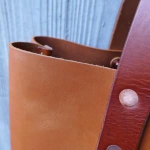 Leder Tote Bag Iris Handtasche cognach hellbraun 1538