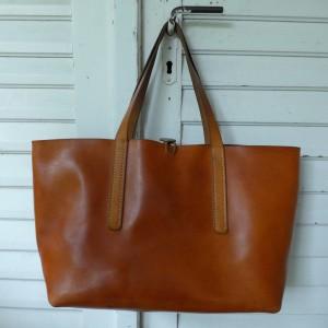 Rosa Tote Bag Handgenäht ledertasche  3708